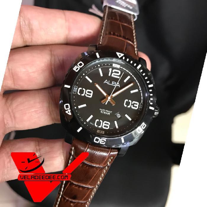 ALBA Smart Gents นาฬิกาผู้ชาย สายหนังแท้ รุ่น AG8H95X