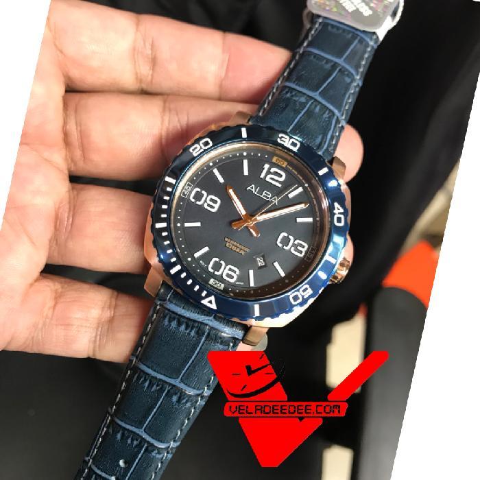 ALBA Smart Gents นาฬิกาผู้ชาย สายหนังแท้ รุ่น AG8H96X
