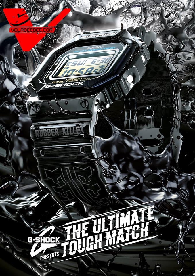 Casio G-Shock นาฬิกาข้อมือผู้ชาย แคมเปญ G-SHOCK THE ULTIMATE TOUGH MATCH Rubber Killer รุ่น DW-5600