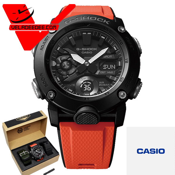 veladeedee.com CASIO G-SHOCK นาฬิกาข้อมือชาย สายเรซิ่น (ประกัน CMG ศูนย์เซ็นทรัล 1 ปี) รุ่น GA-2000E-4